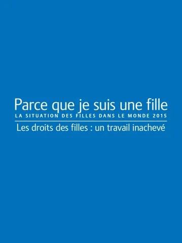 La Situation Des Filles Dans Le Monde 2015 By Plan