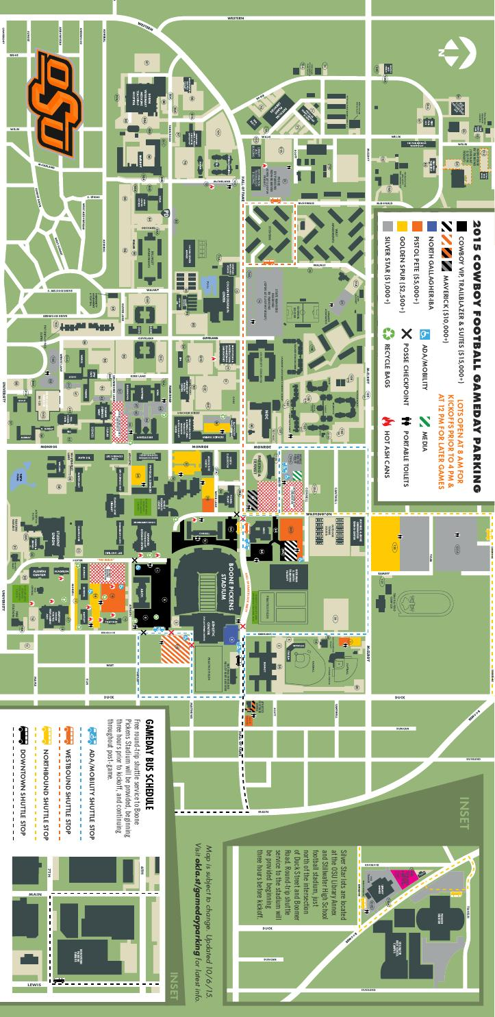 2015 POSSE Football Parking Map by Oklahoma State  Issuu