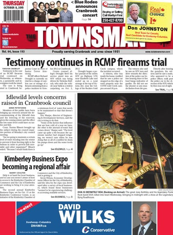 Cranbrook Daily Townsman, October 08, 2015 by Black Press - issuu