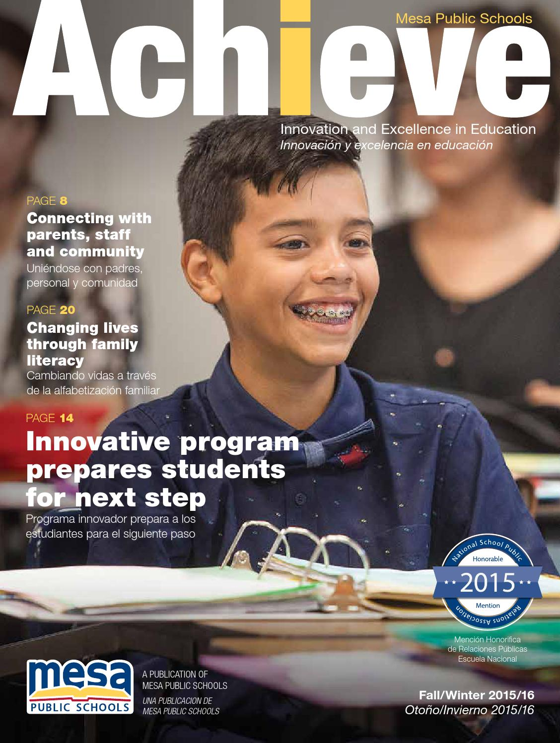 Mesa Public Schools Achieve  Fall15 by Republic Media Content Marketing  Issuu