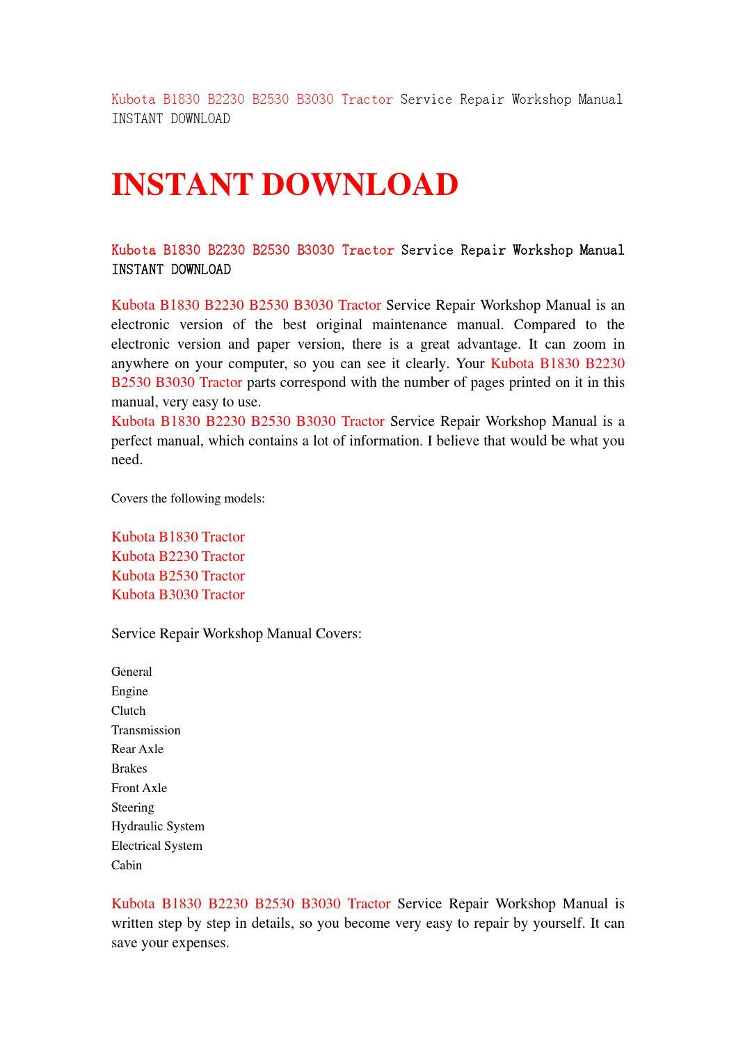 hight resolution of  array download kubota b3030 owners manual rh larceluefchikw gq