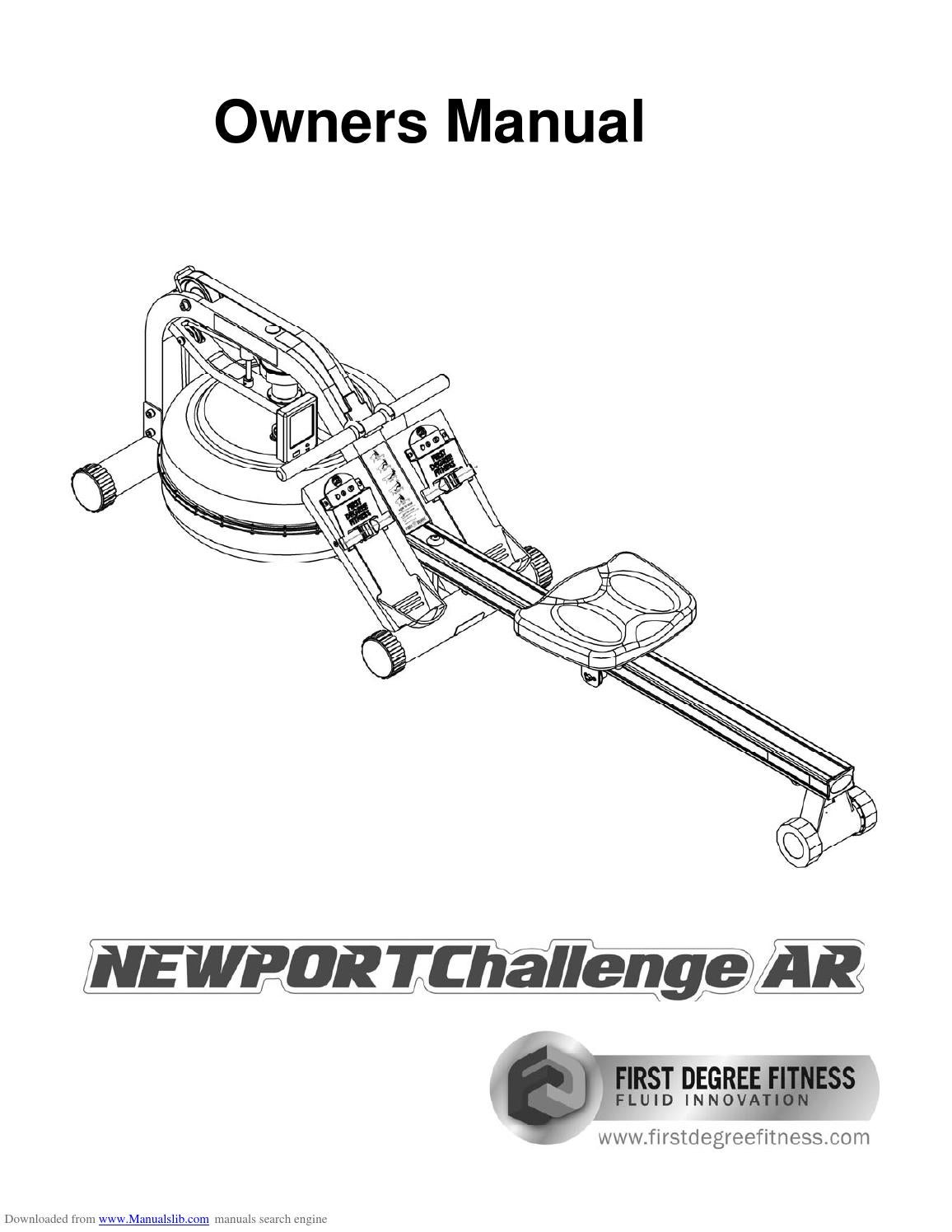 First degree newport challenge rowing machine manual by
