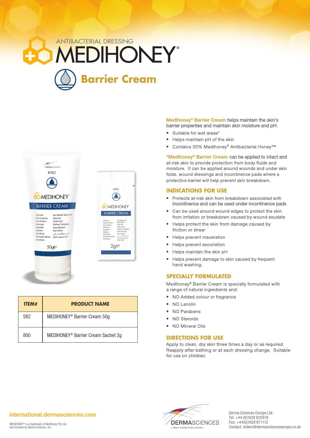 Medihoney barrier cream int by Reem Saibi - Issuu