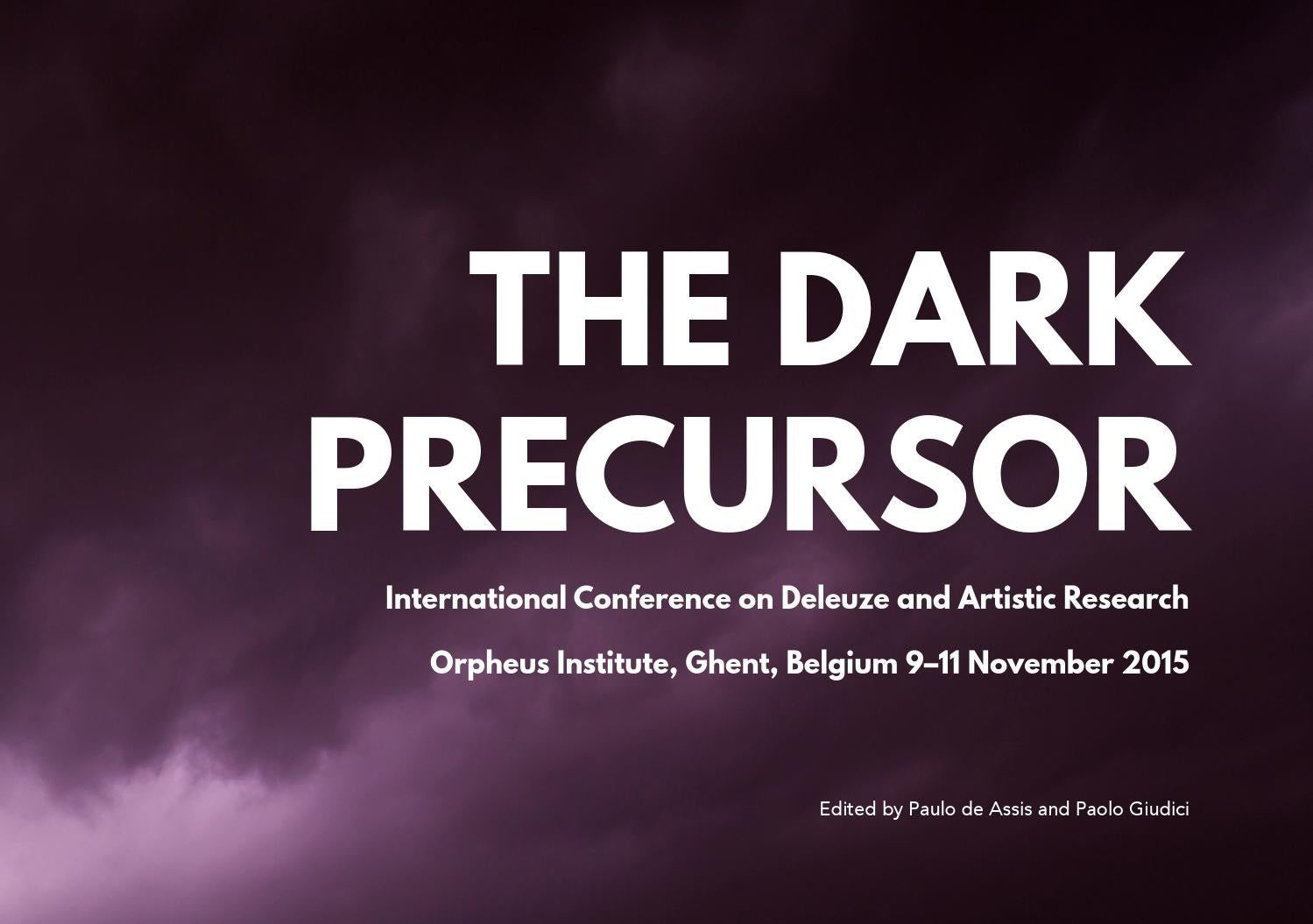 The Dark Precursor DARE 2015 By ME21 Issuu