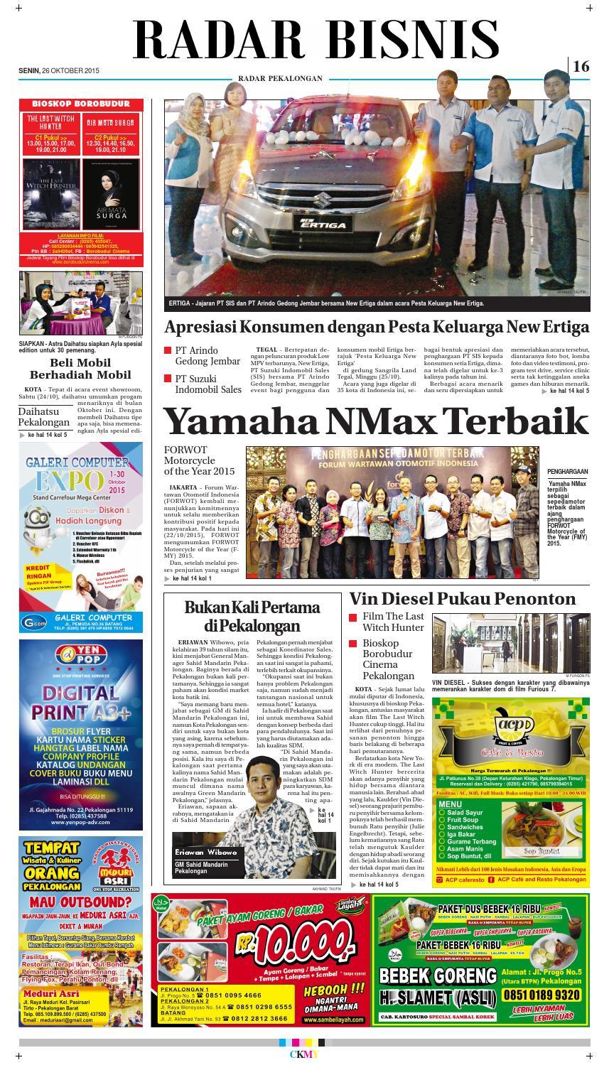 Jadwal Cinema Borobudur Pekalongan : jadwal, cinema, borobudur, pekalongan, Radar, Pekalongan, Oktober, Issuu