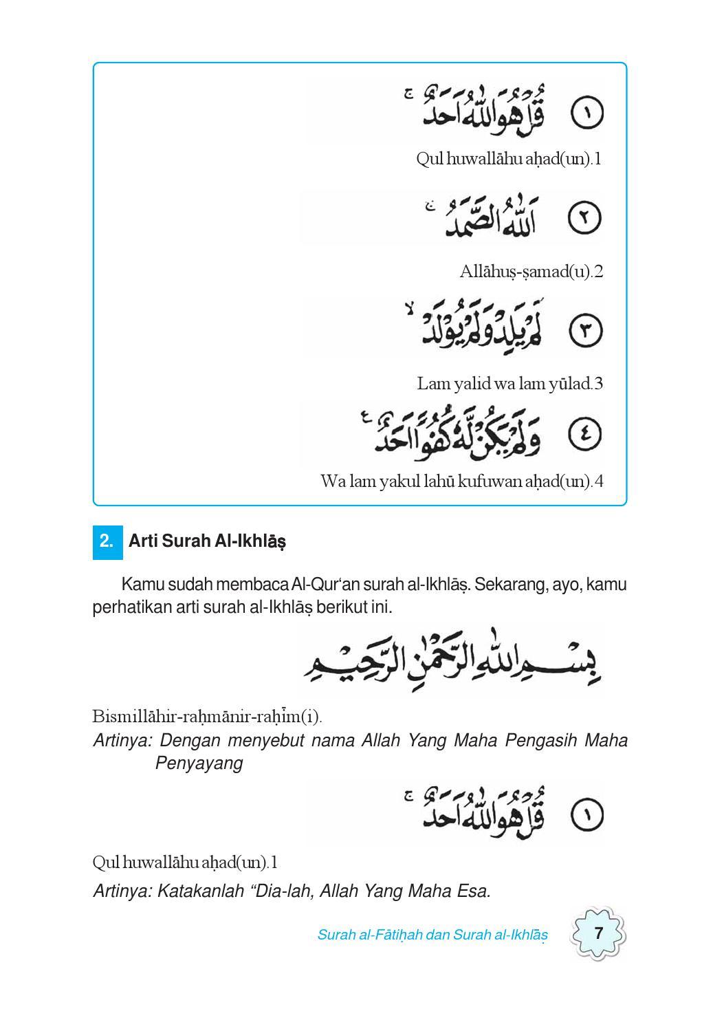 Surah Al Ikhlas Dan Artinya : surah, ikhlas, artinya, Pendidikan, Agama, Islam, Untuk, Kelas, Sekar, Galuh, Endah, Pinuji, Lawuningrum, Nurwahid, Bimasakti, Issuu