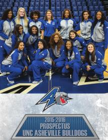 201-2016 Unc Asheville Women' Basketball Prospectus
