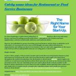 Catchy Name Ideas For Restaurant Or Food Service Businesses By Betty99 Issuu