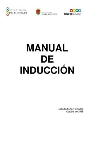 Manual inducción by Secretaría de Turismo, Gobierno del