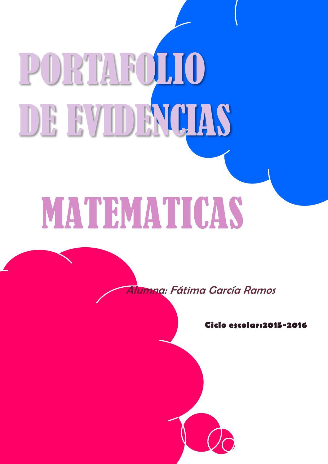 Cuadernillo De Evidencias De Matemáticas 6 - Portafolio de evidencia,matematicas. by Fátima García - Issuu