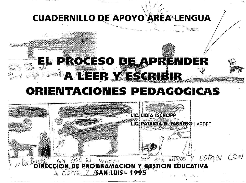 Orientaciones pedagógicas para aprender a leer y escribir