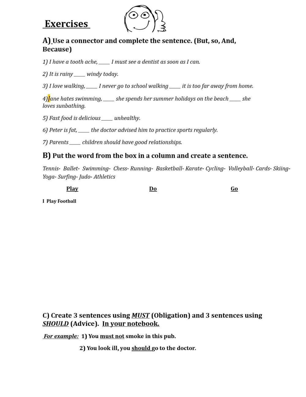 medium resolution of Worksheet 8°th grade by Pablo - issuu