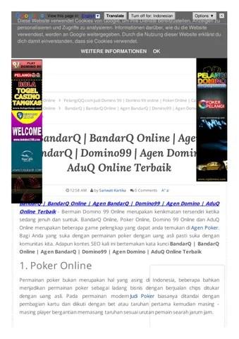 Pelangiqq.com Domino 99 Online Poker Online Capsa Susun Online Aduq Online : pelangiqq.com, domino, online, poker, capsa, susun, Bandarq, Online, Domino99, Domino, Terbaik, Sariwati, Kartika, Issuu