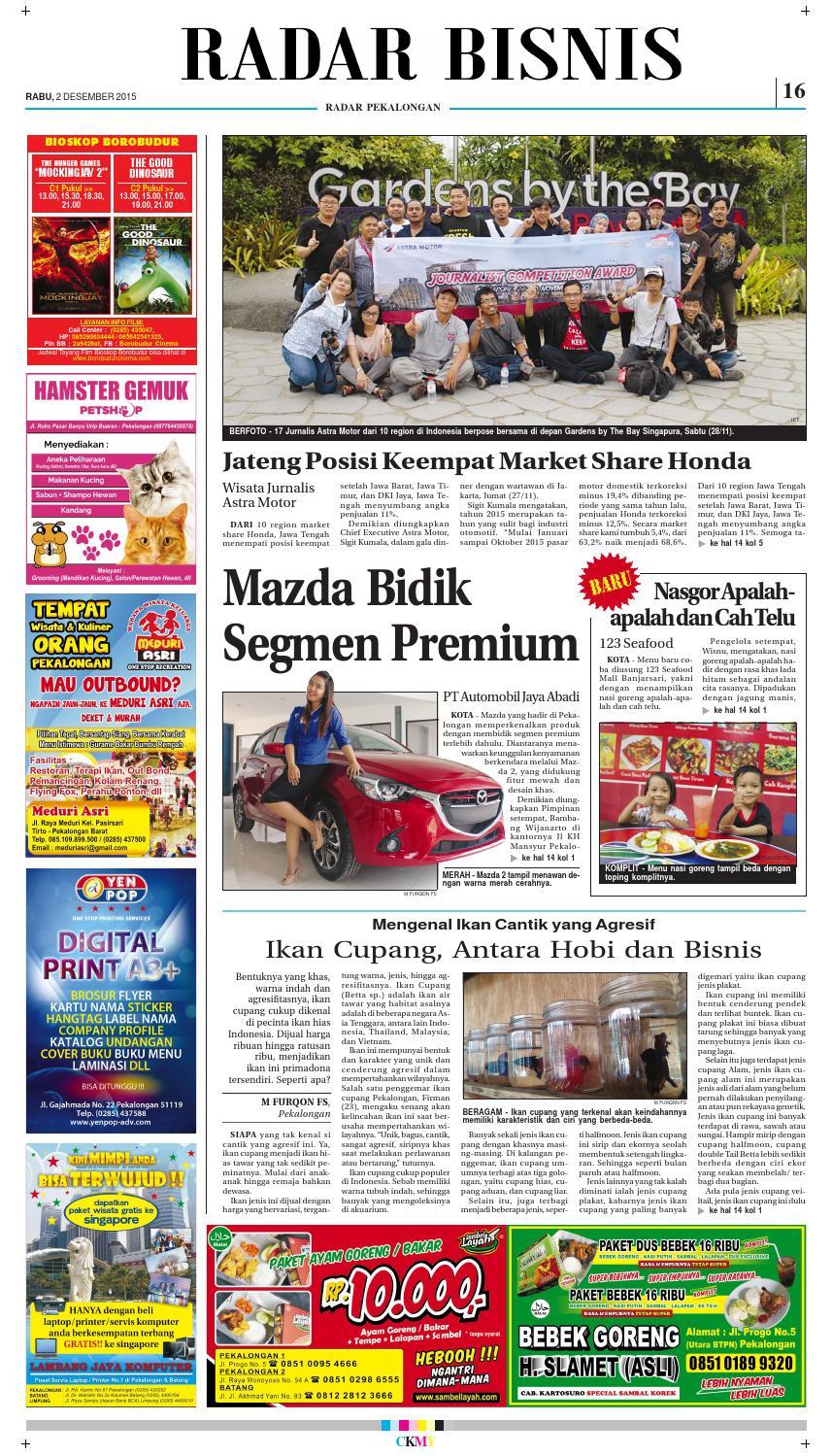 Jadwal Cinema Borobudur Pekalongan : jadwal, cinema, borobudur, pekalongan, Radar, Pekalongan, Desember, Issuu