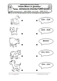 V Imagen Seleccionada Onomatopeyas De Animales Para Colorear