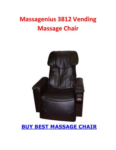used vending massage chairs for sale blue dining chair cushions massagenius 3812 by astolfo serrano issuu page 1 buy best