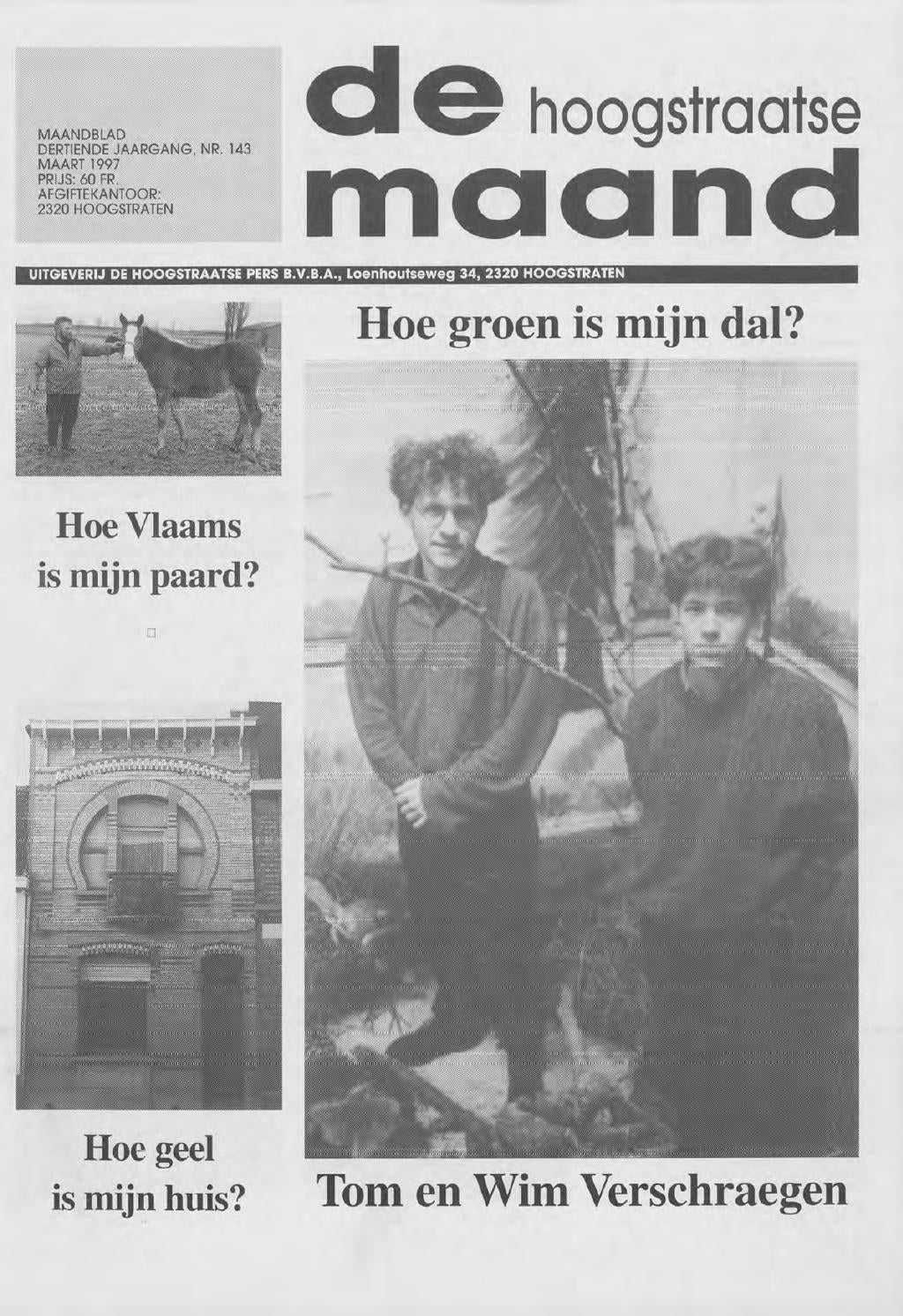 maart 1997  De Hoogstraatse Maand by De Hoogstraatse