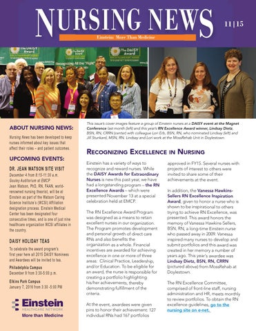 Nursing newsletter 1115 by Einstein Healthcare Network
