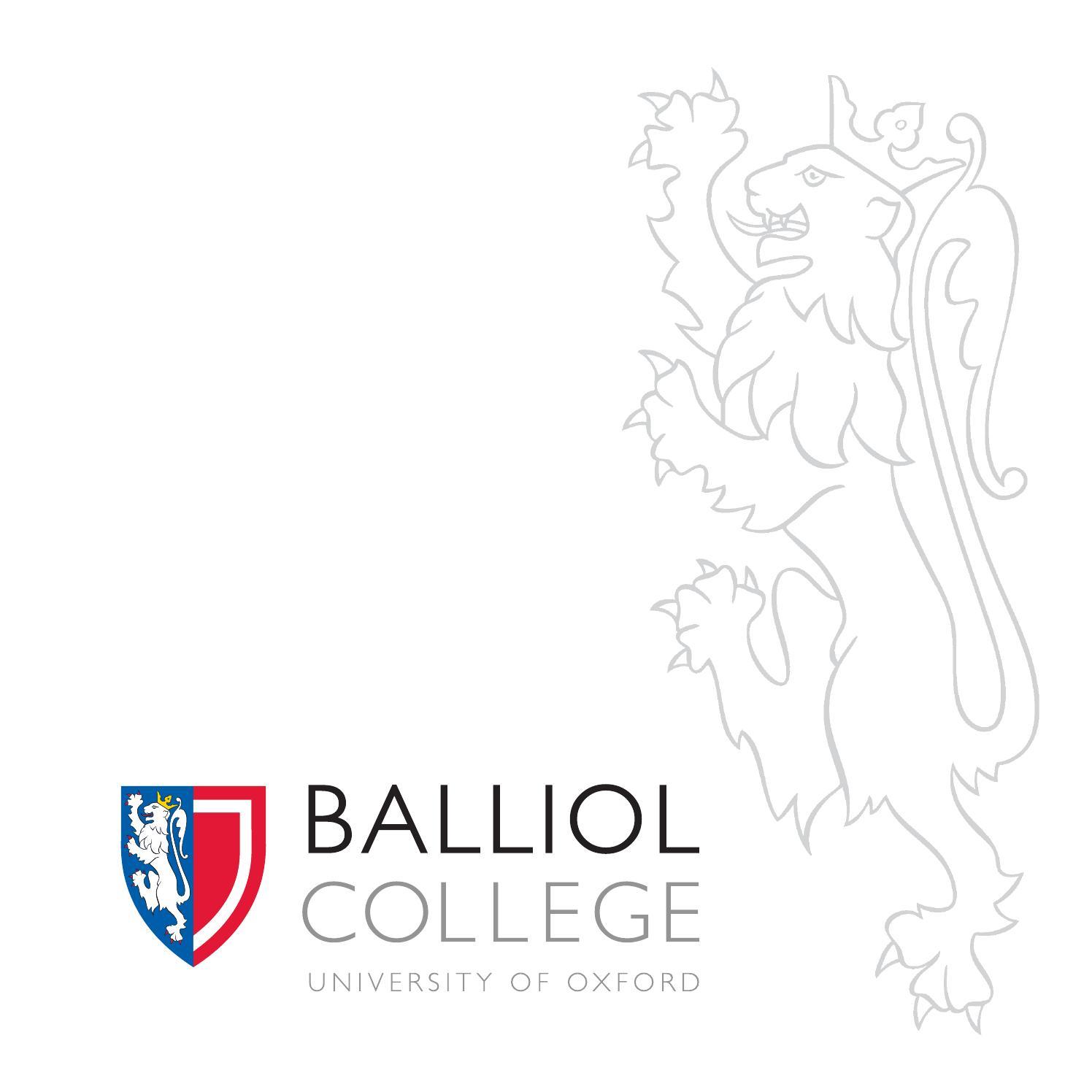 Balliol College undergraduate prospectus by Balliol