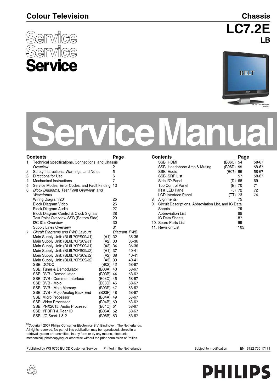 Abb Wiring Diagrams Manual De Servi 231 O Televisor Philips 19pfl5522d 12 Chassis