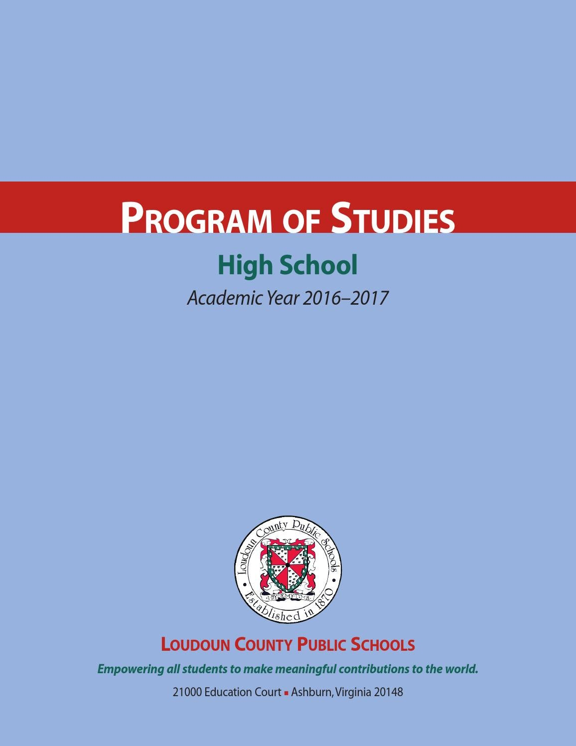 hight resolution of LCPS 2016- 2017 High School Program of Studies by Kevin Terry - issuu