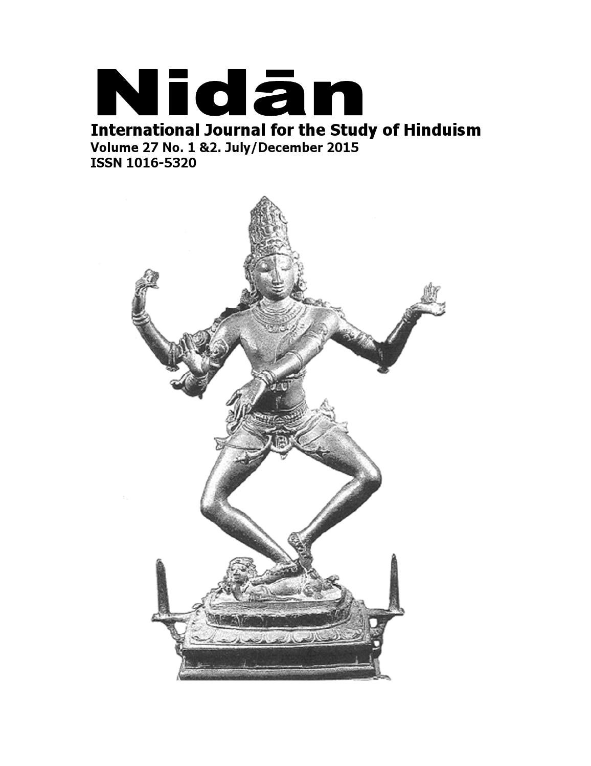 Nidan Volume 27 No. 1 & 2. July/December 2015 by UKZN
