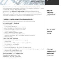 Styrene Production Process Flow Diagram Direct Tv Slimline 5 Lnb Dish Feasibility Studies Ethylbenzene Manufacturing By