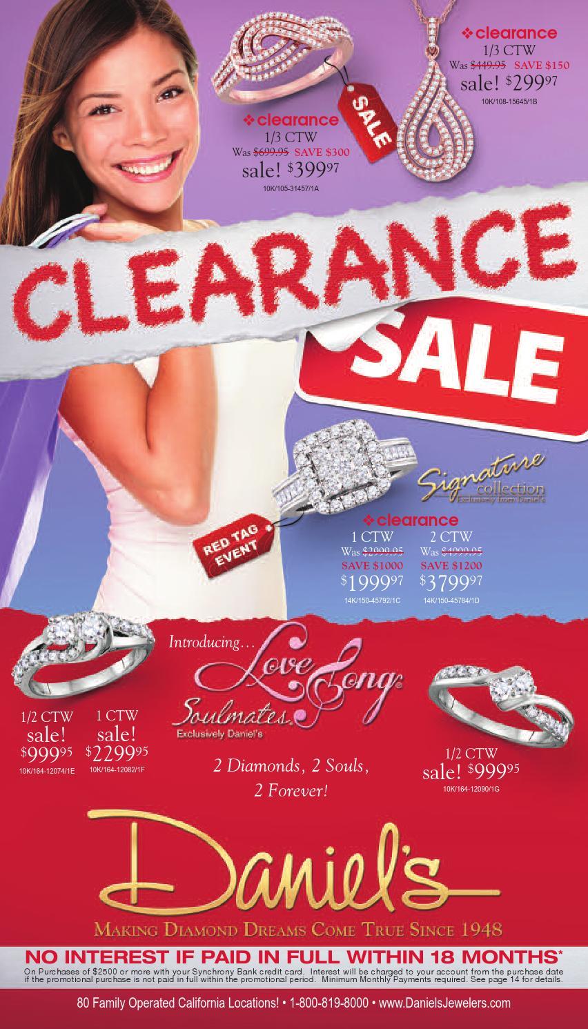 Daniels Jewelry Payment : daniels, jewelry, payment, Daniel's, Jewelers, Clearance, Catalog, Issuu