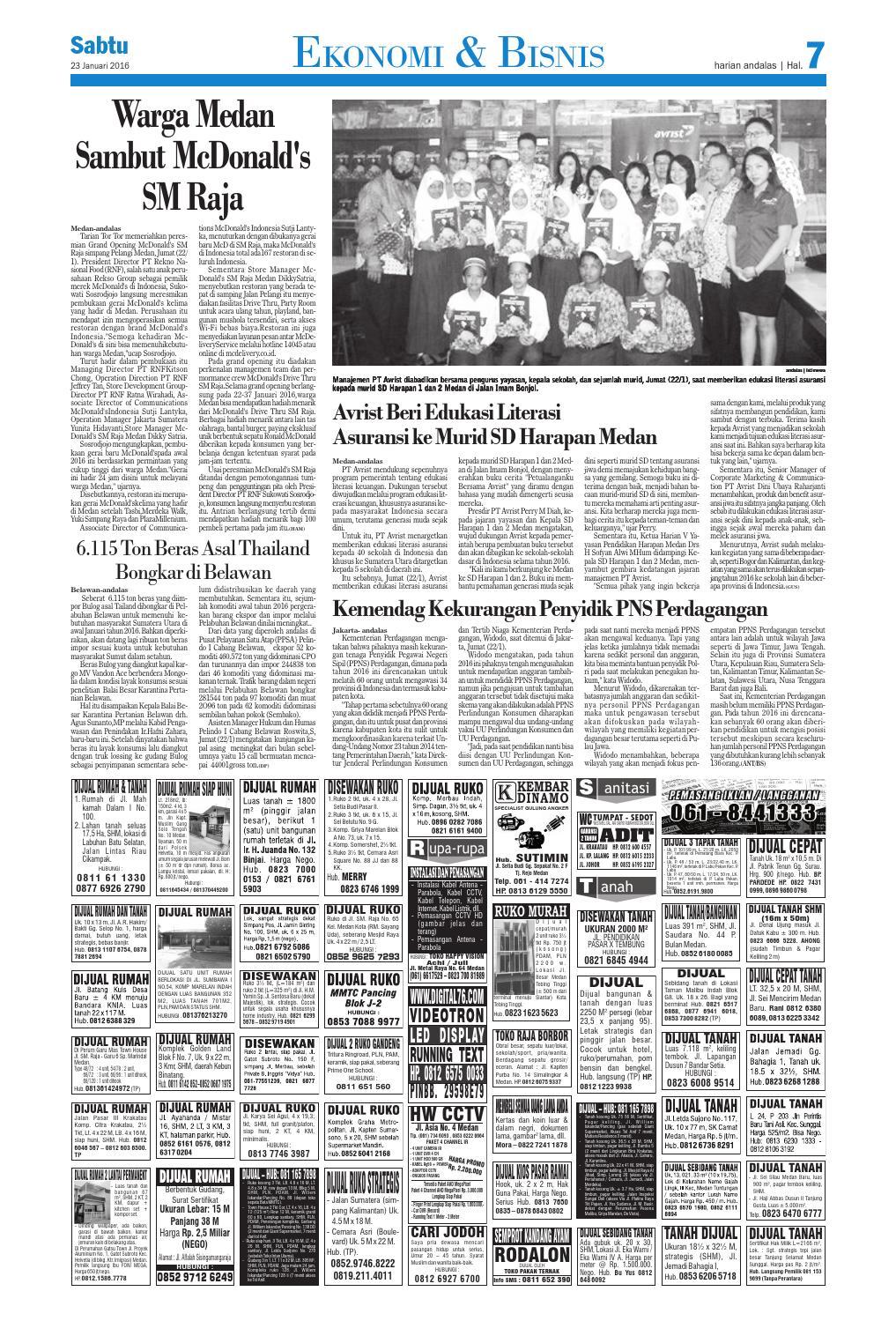 Epaper Andalas Edisi Sabtu 23 Jan 2016 By Media Andalas Issuu
