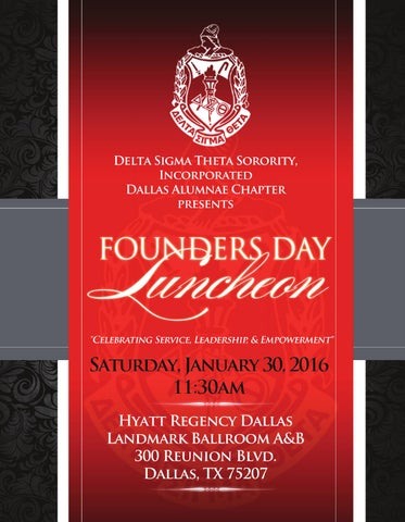 Delta Sigma Theta Sorority Inc Dallas Chapter By In