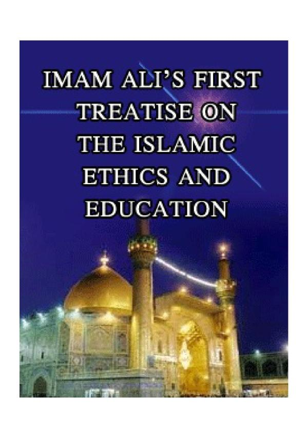 Imam Ali Treatise Islamic Education And