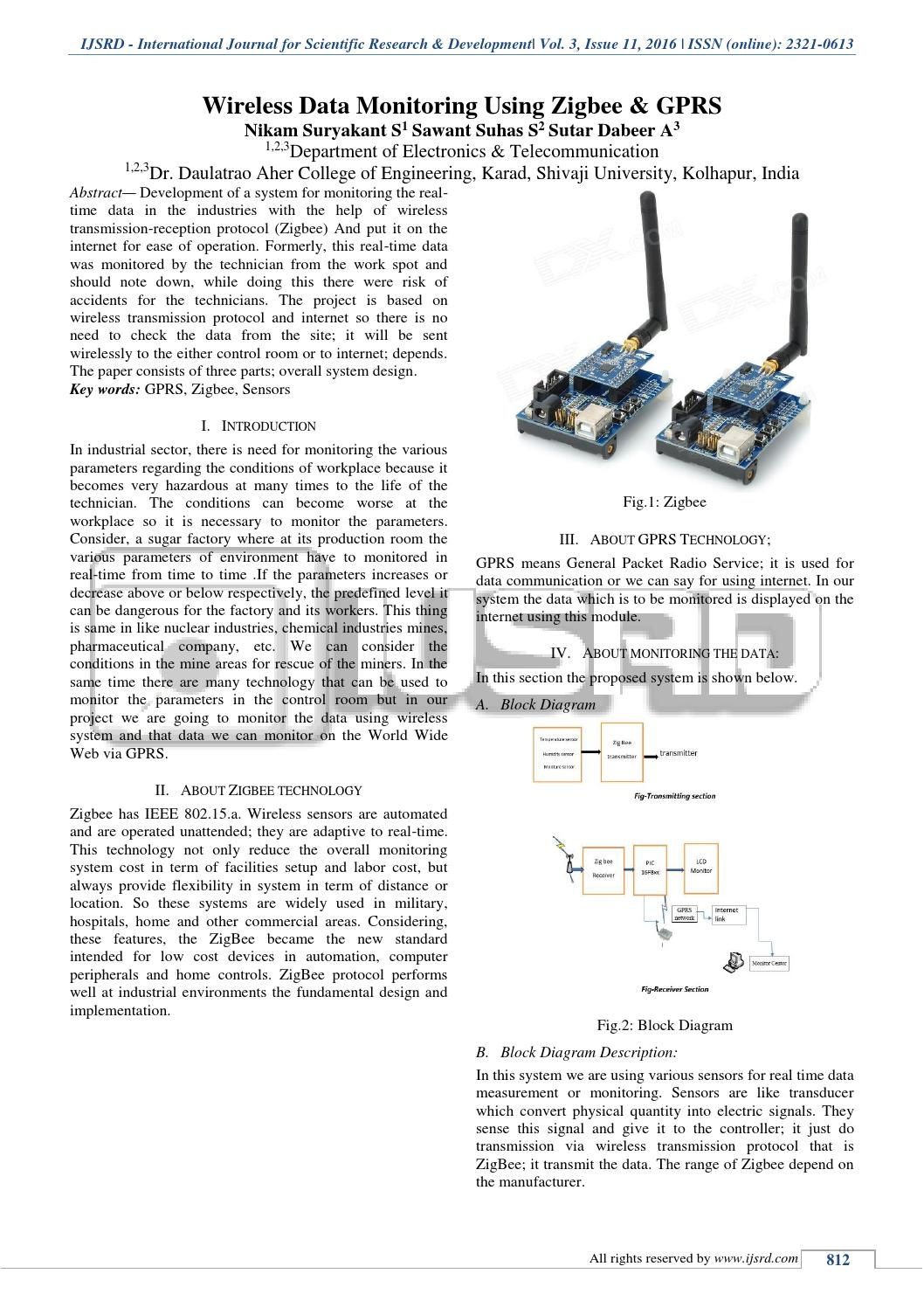 hight resolution of wireless data monitoring using zigbee and gprs by international journal for scientific research and development ijsrd issuu