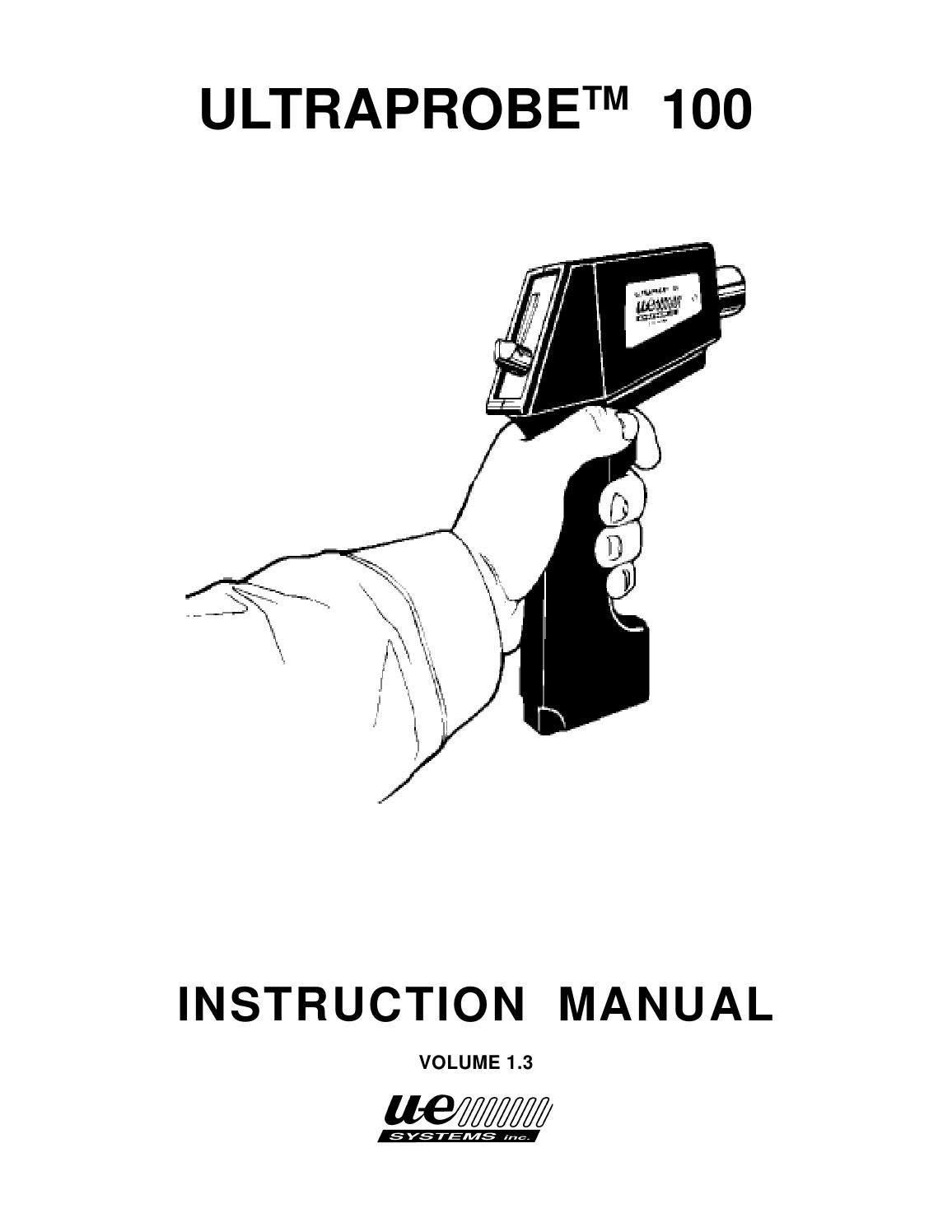 Instruction Manual Ultraprobe 100 (English) by RefriApp