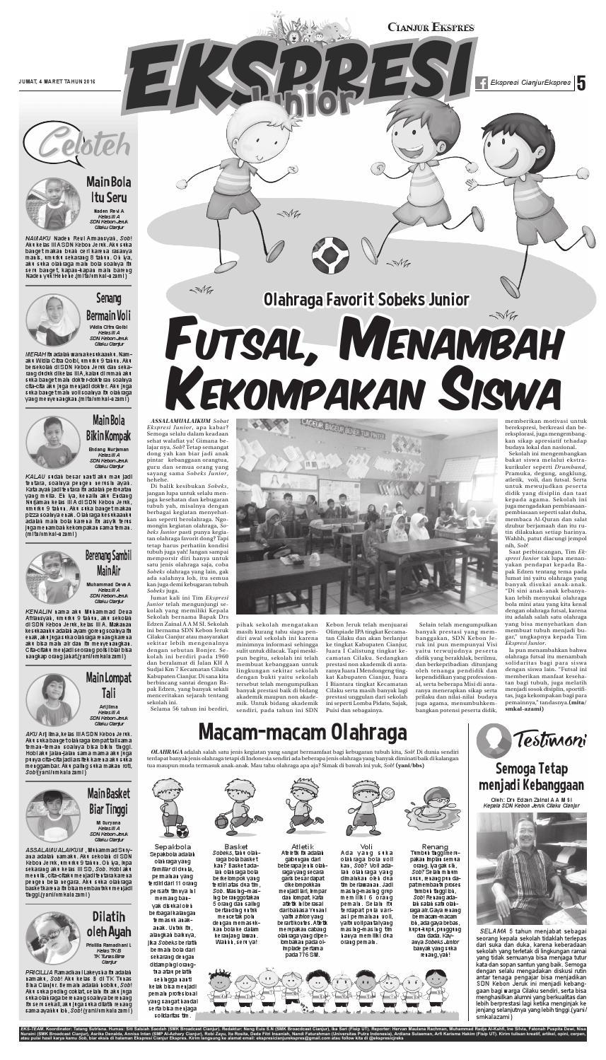 Artikel Tentang Lompat Tinggi : artikel, tentang, lompat, tinggi, Cianjur, Ekspres, Maret, Ricky, Issuu