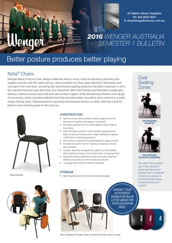 wenger orchestra chair molded plastic outdoor chairs music stands accessories newsletter term 1 2016 by engadine page