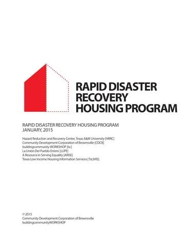 Safer Homes, Stronger Communities: A Handbook for Reconstructing ...
