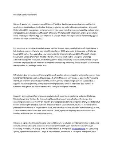 Blum Shapiro Microsoft Sharepoint And Venture Server ...