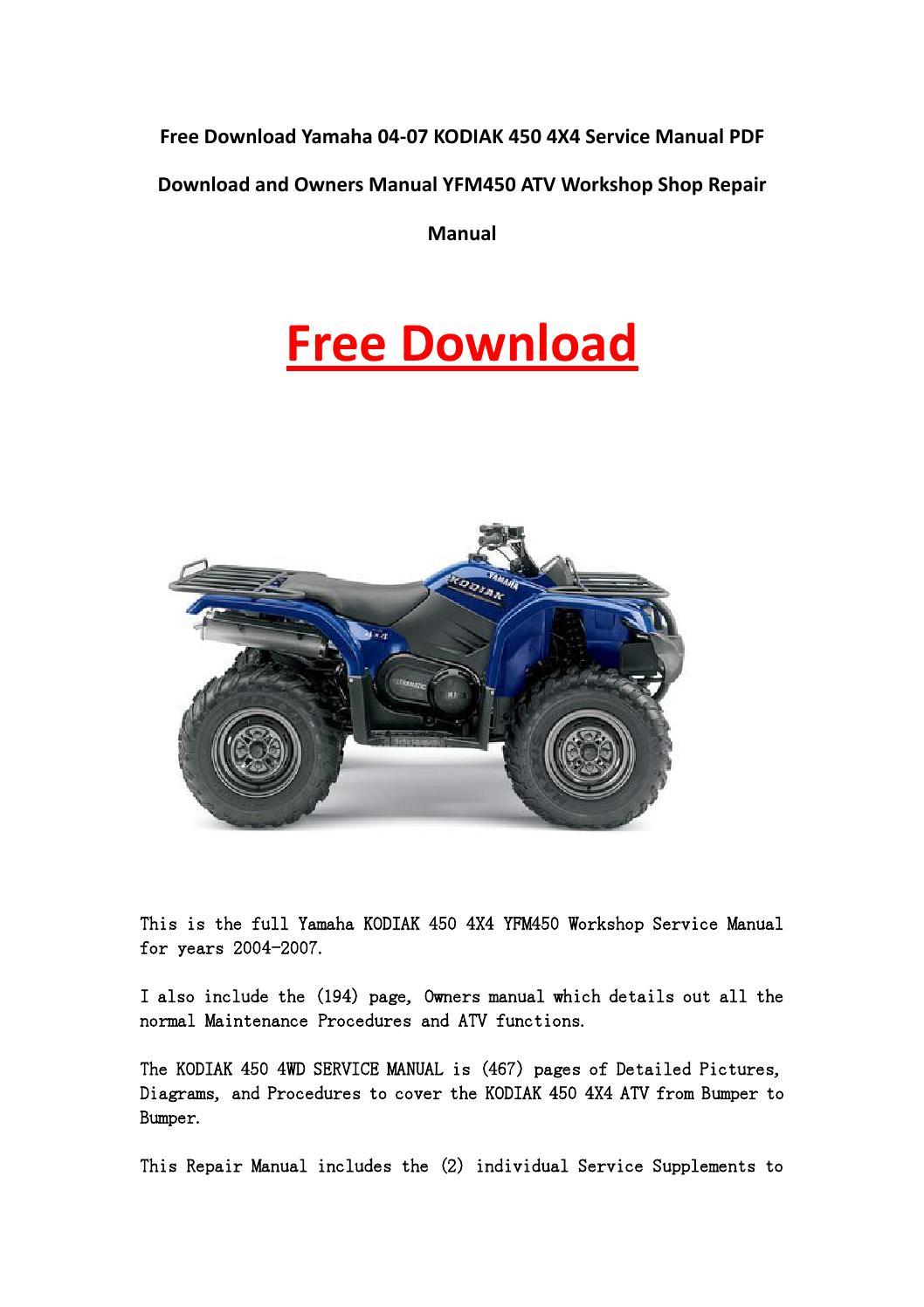 Yamaha Kodiak 400 4x4 Wiring Diagram Free Download Wiring Diagrams