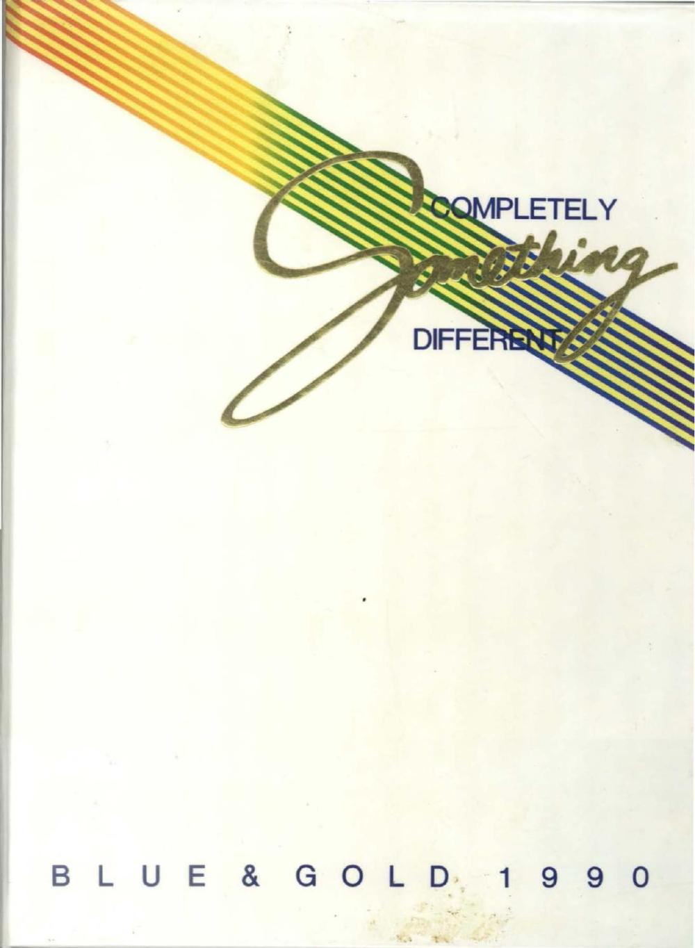 medium resolution of 1990 blue and gold yearbook