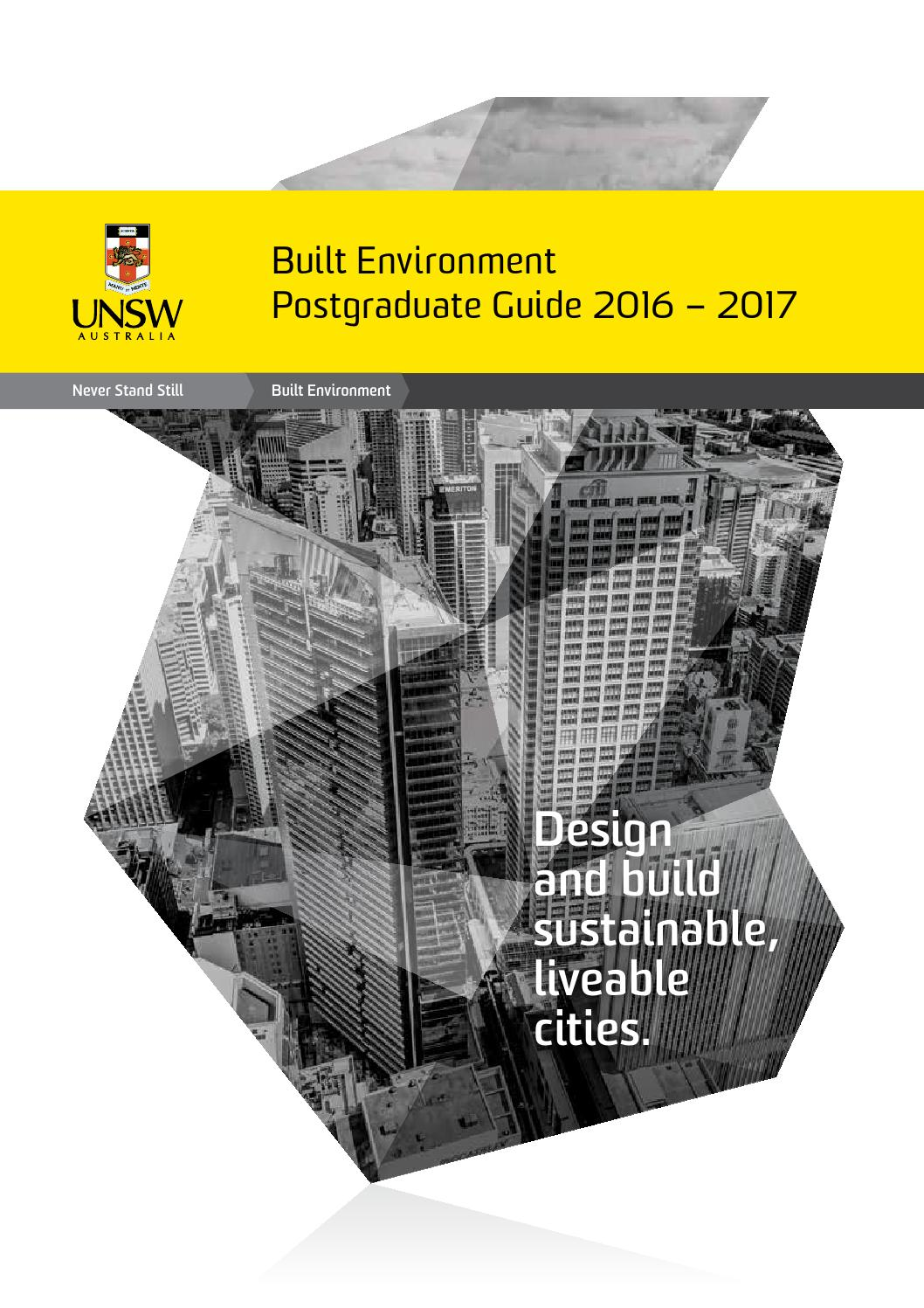 Unsw Cover Letter Unsw Built Environment Postgraduate Guide 2017 By Unsw Built