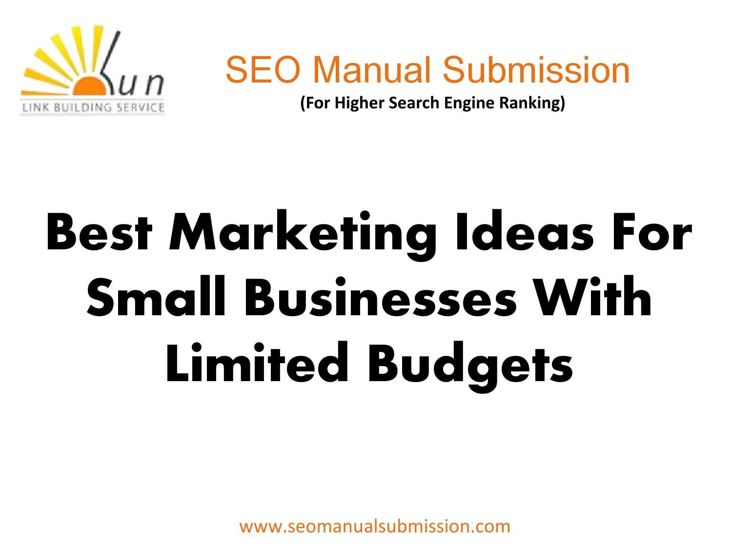 Best Marketing Ideas For Small Businesses With Limited