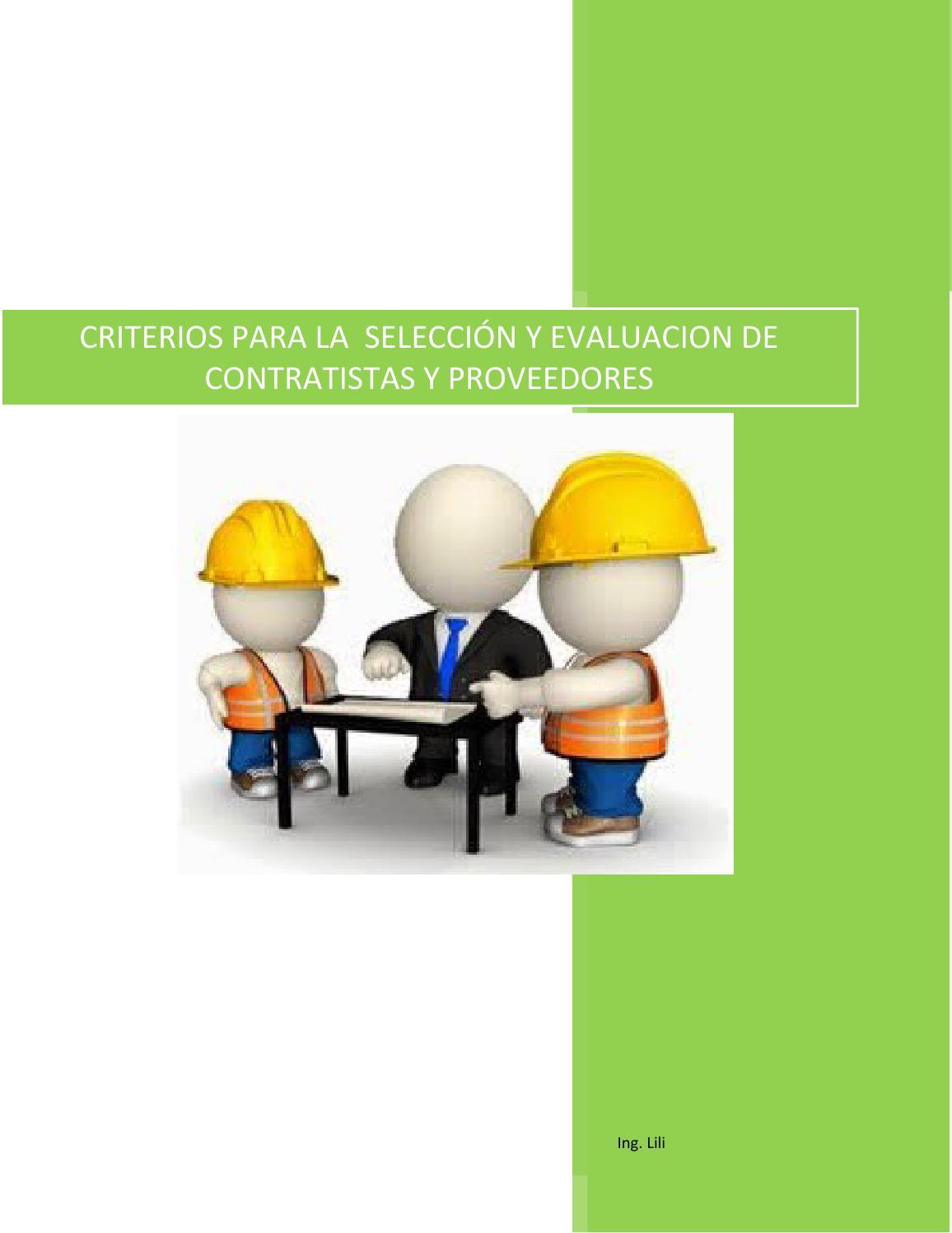 Sst da 003 criterios contratistas y proveedores by sandra