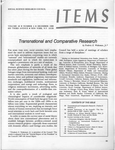 Items Vol 42 No 4 1988 By SSRC's Items & Issues Issuu