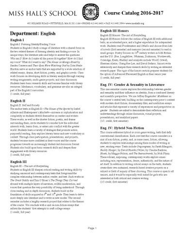 Upper School 2016 2017 Course Catalogue By The Hockaday School Issuu