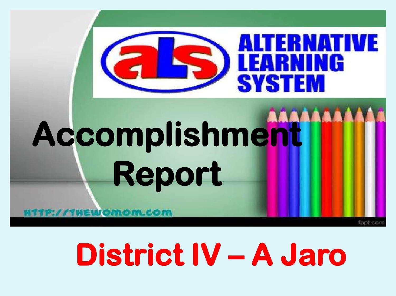 ALS Accomplishment Report by Gerlie Dominguez - issuu