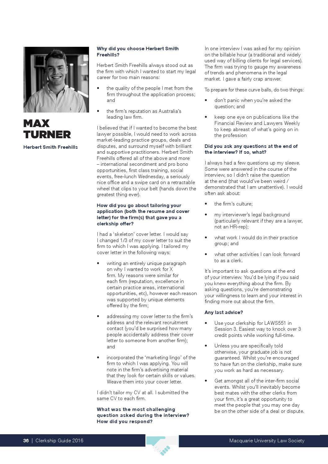 Clerkship Application Cover Letter