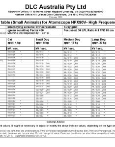 Atomscope hfx  small animal technique chart by dlc australia pty ltd issuu also rh