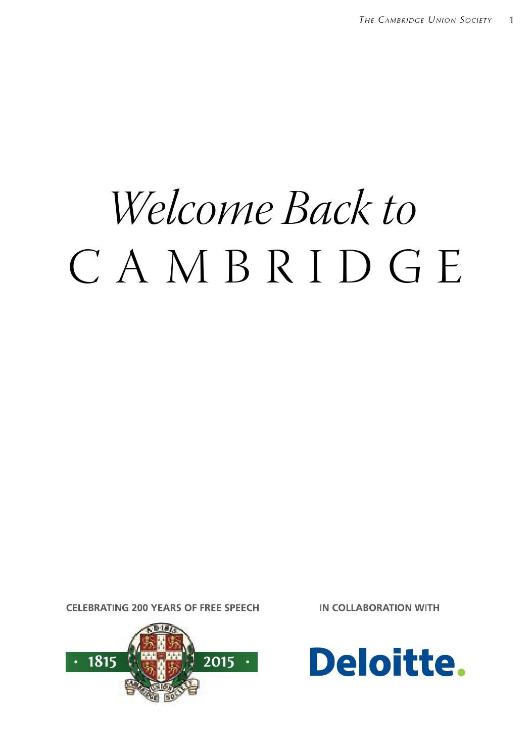 The Bicentenary Booklet  Cambridge Union by The Cambridge