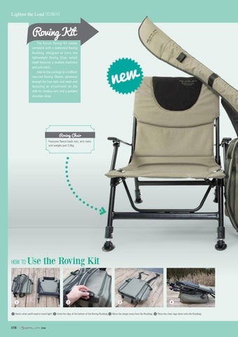 fishing roving chair teak dining room chairs for sale korum made easy magazine 2016 by uk issuu lighten the load kit