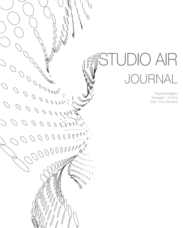 Brydie Singleton Studio Air Final Journal by Brydie
